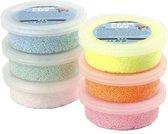 Foam Clay set met 6 Kleuren met Glitter - klei