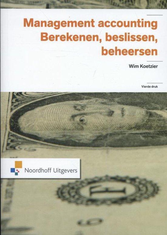 Boek cover Management accounting van W. Koetzier (Paperback)