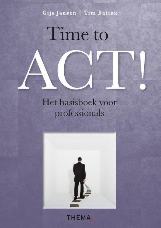 Boek cover Time to ACT! van Gijs Jansen (Paperback)