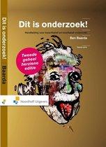 Boek cover Dit is onderzoek! incl. toegang tot Prepzone van Ben Baarda (Hardcover)