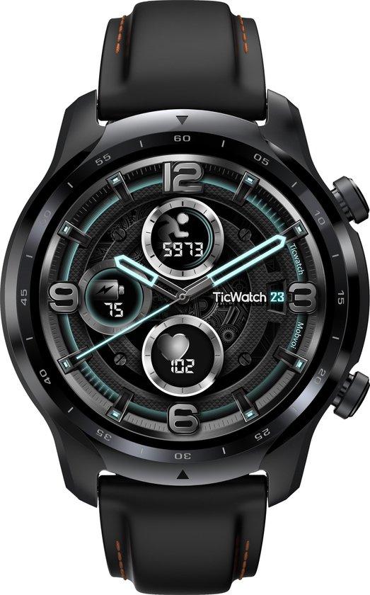 Mobvoi Ticwatch Pro 3 GPS smartwatch Black Shadow AMOLED dubbel layer technologie 48mm wear OS 1.4in Zwart