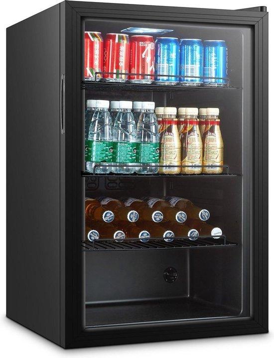 Horeca koelkast: Horeca glasdeur mini koelkast | 115 liter | zwart, van het merk Combisteel