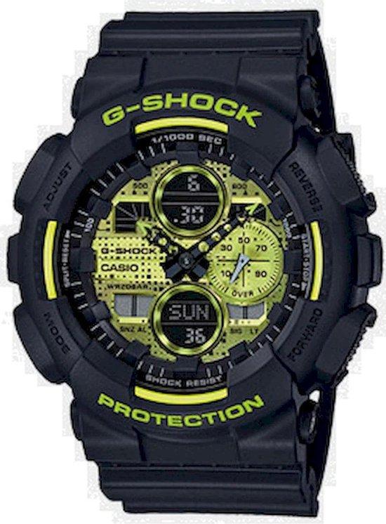 Casio G-Shock GA-140DC-1AER Horloge - Kunststof - Zwart - Ø 50 mm