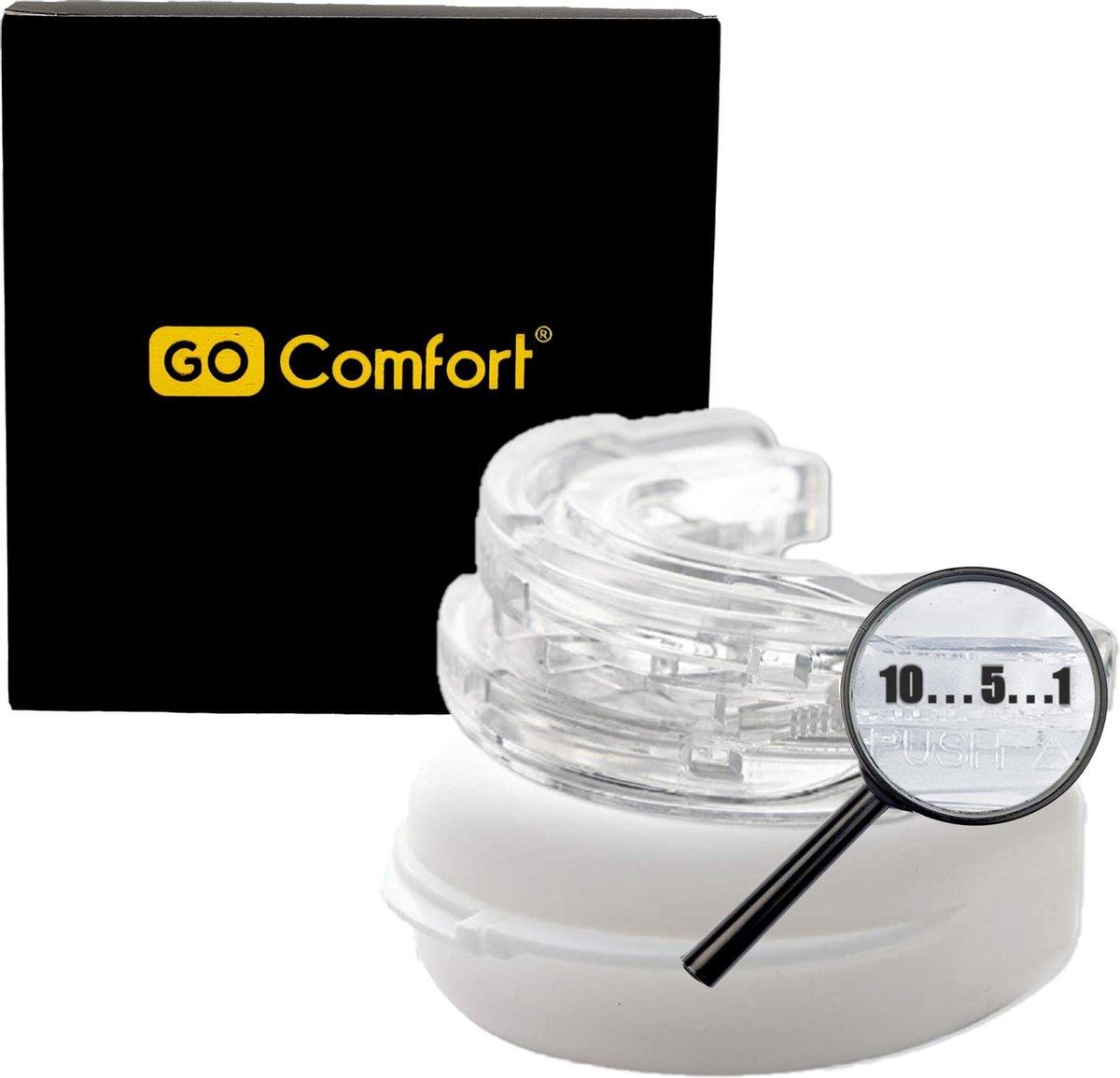 GO COMFORT PRO CLICK  - Anti snurkbeugel op maat - Voor zware snurkers - Geschikt voor mannen en vro