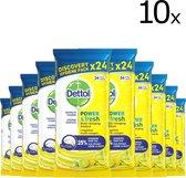 Dettol Hygiënische Reinigingsdoekjes Citrus - 10 x 24 doekjes
