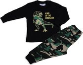 Fun2Wear - Pyjama Dino - Zwart - Maat 92 - Jongens