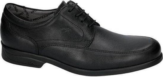 Fluchos -Heren -  zwart - geklede veterschoen - maat 41