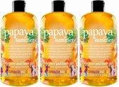 3x Treaclemoon Bad en Douchegel Papaya Summer 500 ml