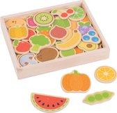 Bigjigs Toys - Houten Magneten 'Groenten en Fruit'