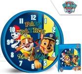 PAW Patrol Wandklok Here to Help - Ø 25 cm - Blauw