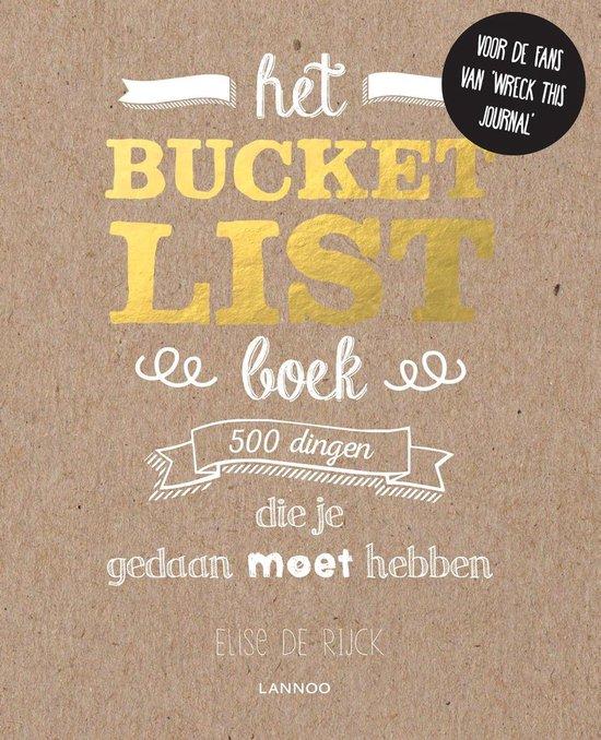 Boek cover Het bucketlist-boek van Elise de Rijck (Onbekend)