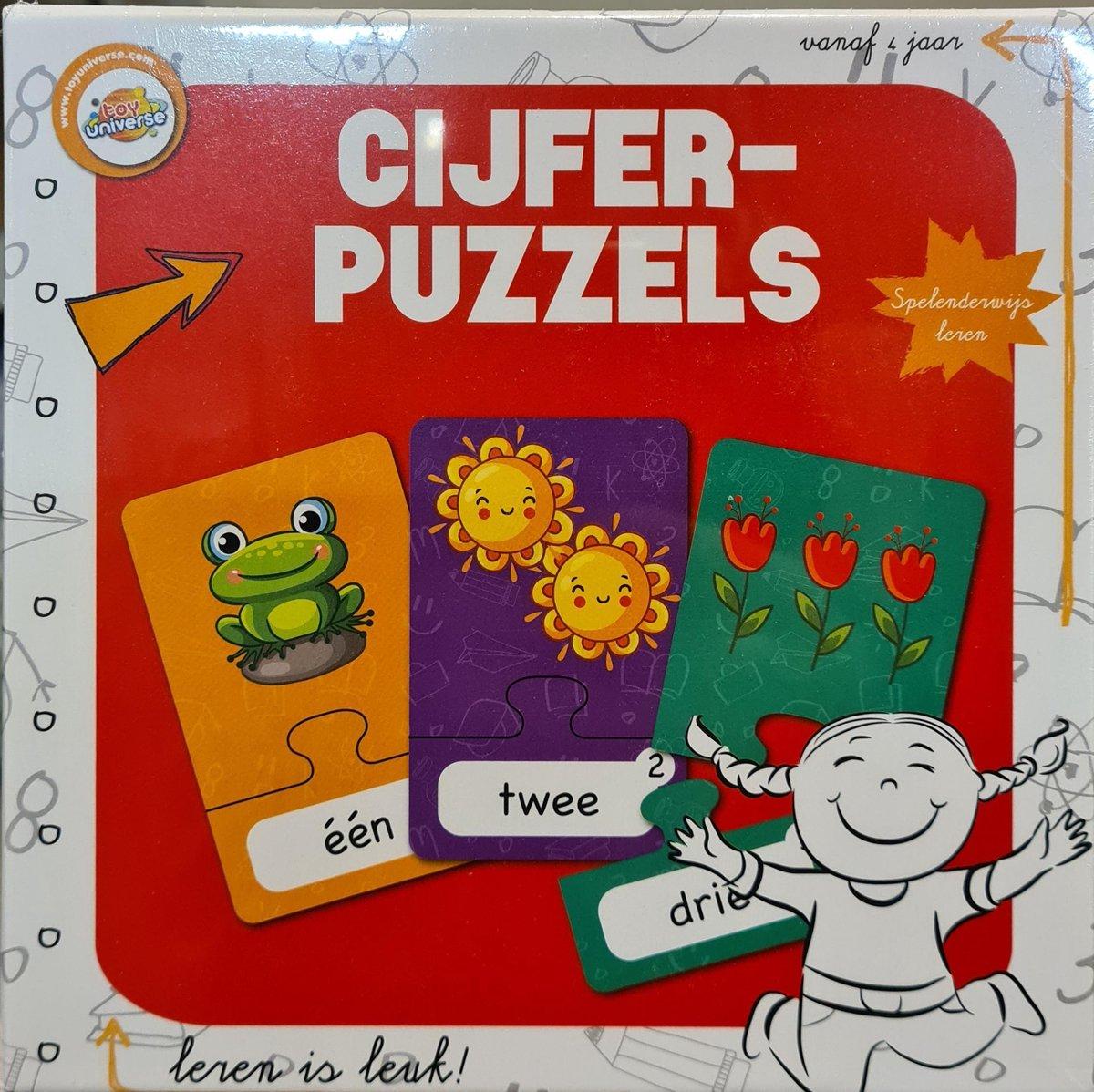Cijfer Puzzels - Leren is Leuk - 30 Stuks Cijfers