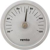 Design sauna thermometer - Aluminium Naturel (⌀15cm)