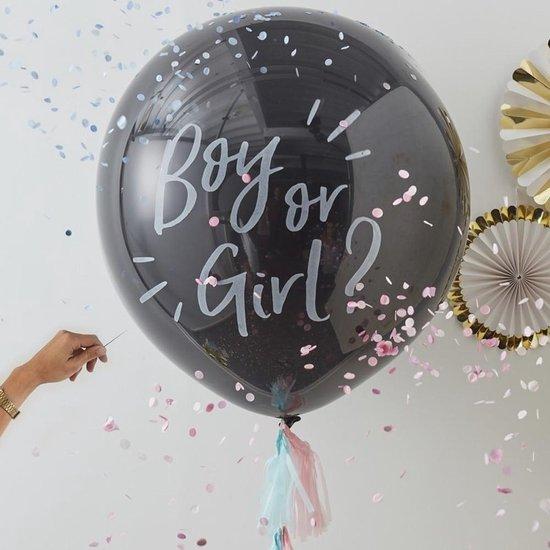 Ginger Ray Ballon Gender Reveal Kit - 90 centimeter