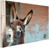 Ezel Hout 30x20 cm - klein - Foto print op Hout (Wanddecoratie)