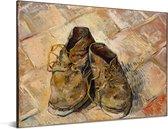 Schoenen - Schilderij van Vincent van Gogh Aluminium 80x60 cm - Foto print op Aluminium (metaal wanddecoratie)