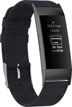 iMoshion Nylon bandje voor de Fitbit Charge 3 / 4 - Zwart