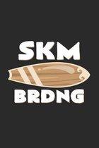 Skm Brdng: 6x9 Skimboarding - grid - squared paper - notebook - notes