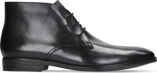 Clarks - Herenschoenen - Stanford Lo - G - black leather - maat 10,5
