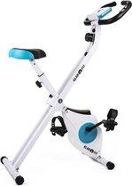CAPITAL SPORTS Azura  - hometrainer fietstrainer - fitness bike - weerstand op 8 niveaus - hartslagmeter - opvouwbaar - 100kg max.