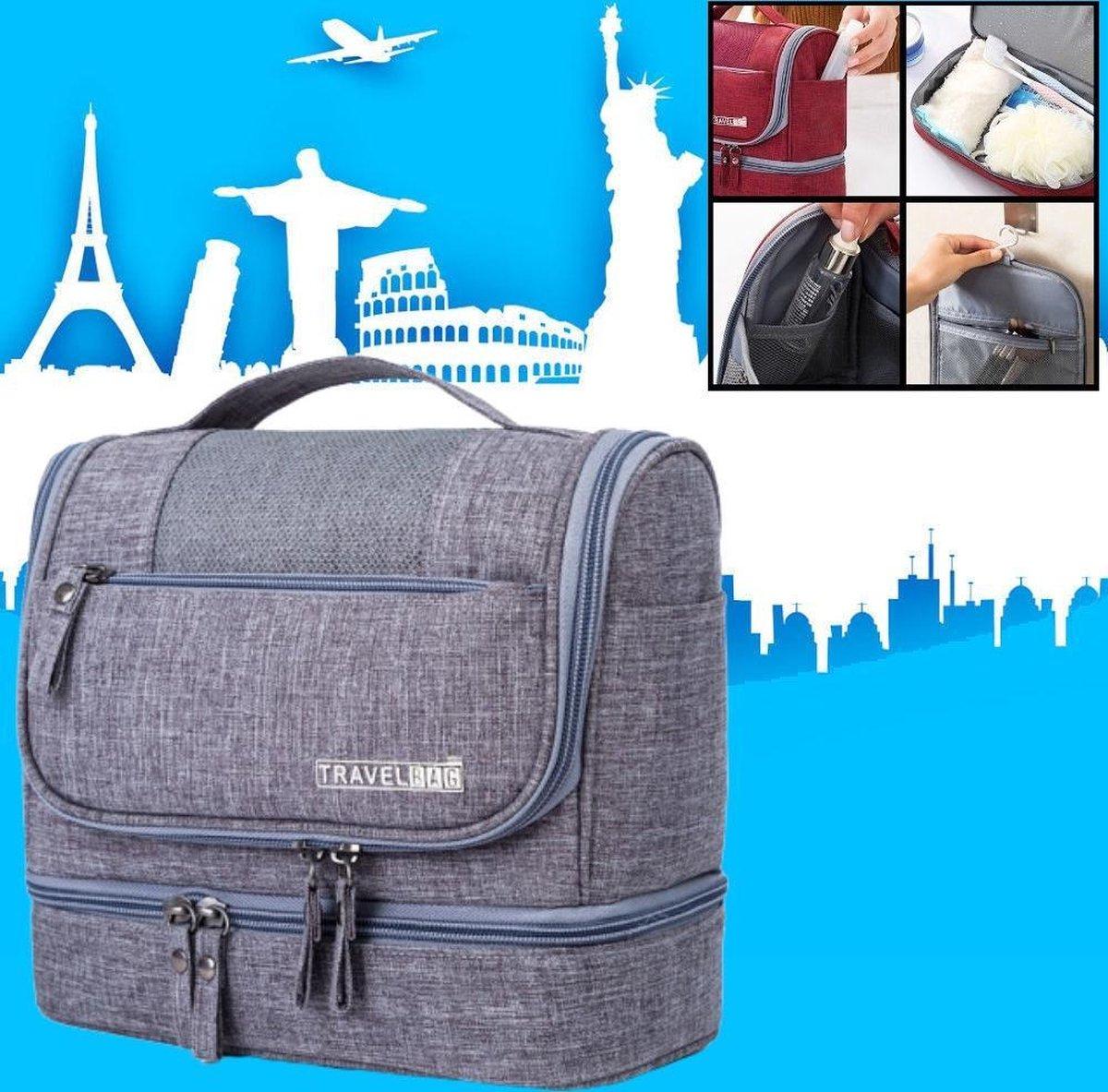 Decopatent® Ophangbare Toilettas met Haak - Dames & Heren - Travel bag Organizer - Waterdichte Reis