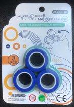 Magnetic finger trick rings  - Magnetische vinger Ringen - Blauw