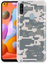 Oppo A52 Hoesje Army Digi Camouflage