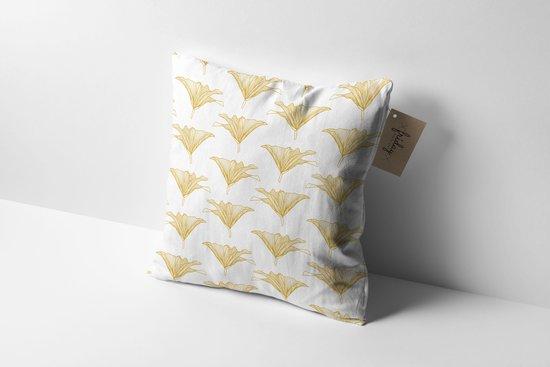 Made on Friday - Sierkussen Floral Gold - Binnen 50x50cm -  Kendal (Twill 210 gr./m2)