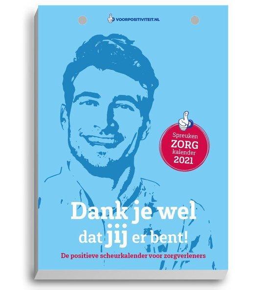 Boek cover Zorgkalender positieve spreuken - scheurkalender 2021 van Mark Verhees (Hardcover)