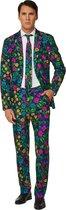 Suitmeister Floral - Mannen Kostuum - Gekleurd - Carnaval - Maat S