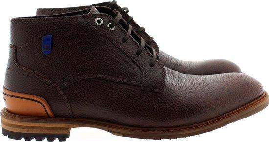 Floris van Bommel 20228 croco veter boots - bruin, ,44 / 10