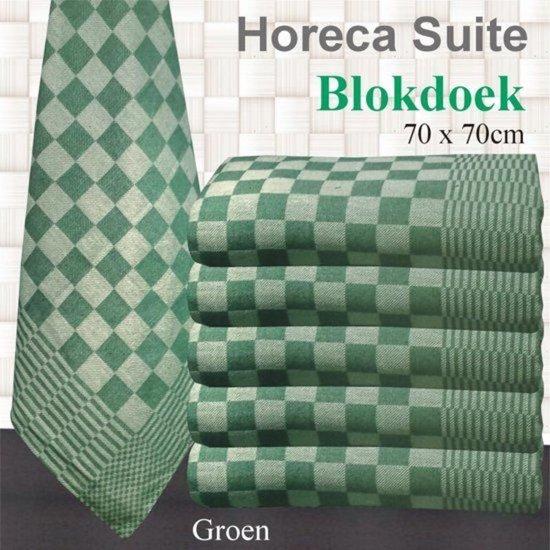 Blokdoeken - Pompdoek - Theedoeken Groen | set van 6 stuks | 70x70cm
