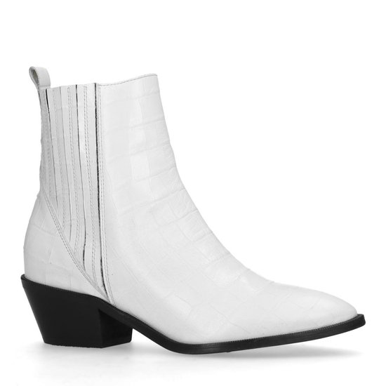| Manfield Dames Witte enkellaarsjes met