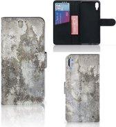 Sony Xperia L3 Bookcase Beton Print