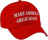 Feestpet make America great again rood voor volwassenen - Donald Trump - verkleed pet / carnaval pet