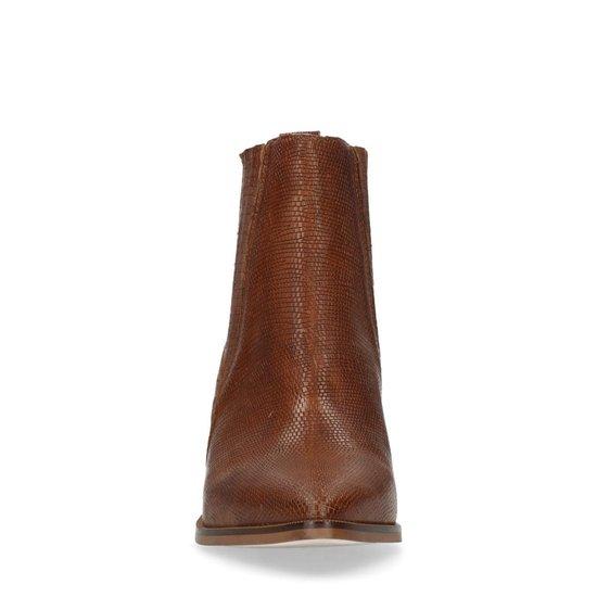 Sacha Dames Bruine chelsea boots met hak Maat 37