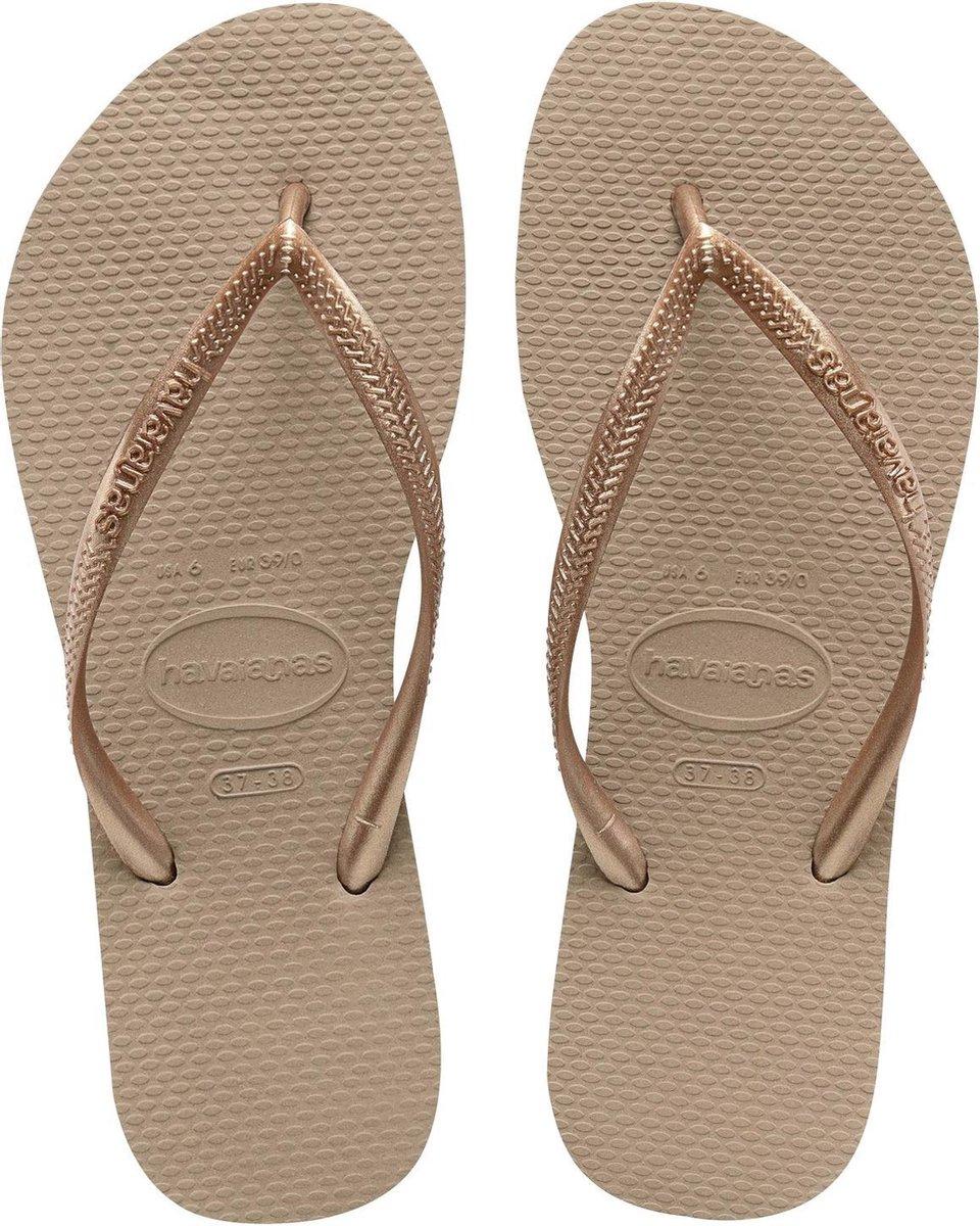 Havaianas Slim Dames Slippers - Rose Gold - Maat 35/36