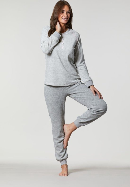 Grijze badstof pyjama Ringella