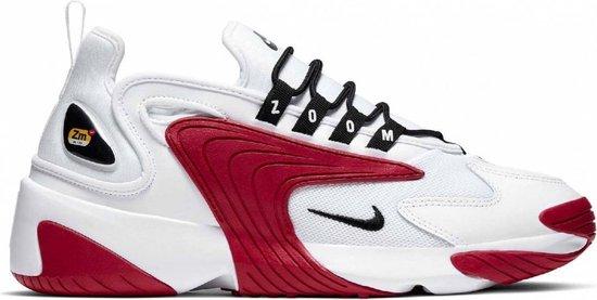 Nike Zoom 2K Heren Sneakers - White/Black-Gym Red-White - Maat 45.5