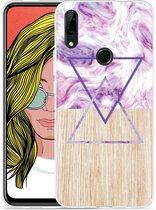 Huawei P Smart Z Hoesje Color Paint Wood Art
