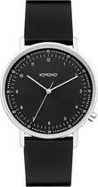 Komono Lewis Black Lewis W4071 horloge  - zilver zwart