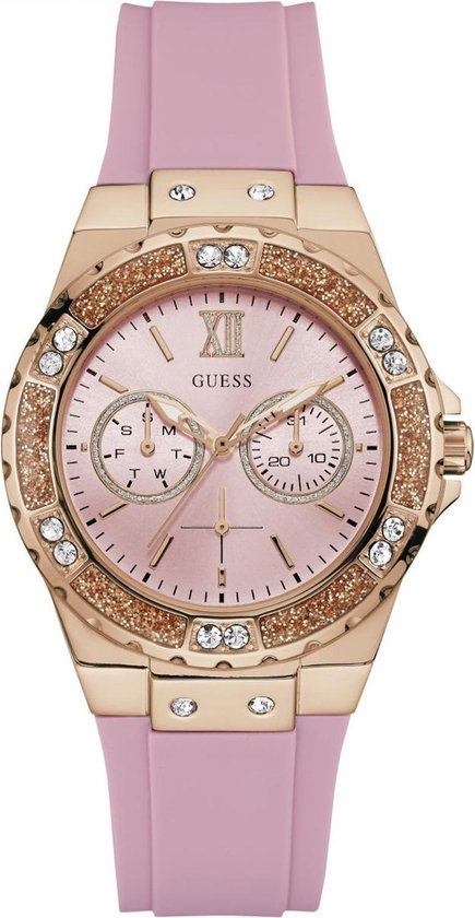 GUESS Watches -  W1053L3 -  horloge -  Vrouwen -  RVS - Rose -  39  mm