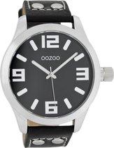OOZOO Timepieces C1054 - Horloge - 46 mm - Leer - Zwart