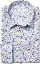 SKOT Fashion Overhemd Duurzaam Heren Blue Nature Fun - blauw - Maat S