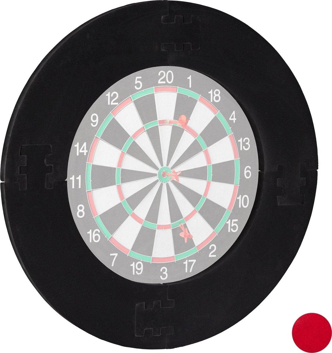 relaxdays dartbord surround ring - beschermring - bescherming voor muur - beschermrand zwart