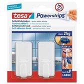 Tesa Powerstrips Haken Classic Large - Wit - 2 Stuks