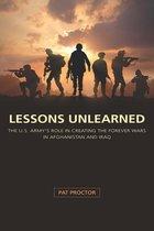 Omslag Lessons Unlearned