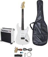 Elektrische gitaar starterset - Johnny Brook JB402 elektrische gitaar starterset met gitaar, 20W versterker en alle benodigde accessoires - Wit
