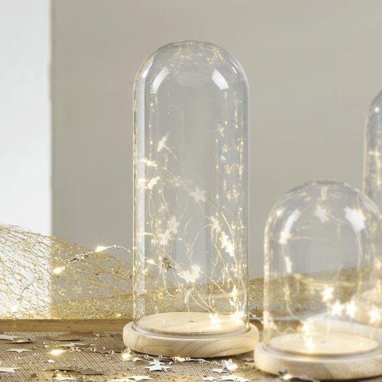 Mascagni - Glazen Stolp met LED-verlichting formaat 12 x hoogte 26 cm -  0X C994