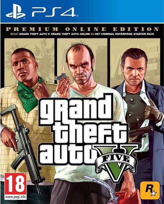 Cover van de game Grand Theft Auto 5 - Premium Edition - PS4